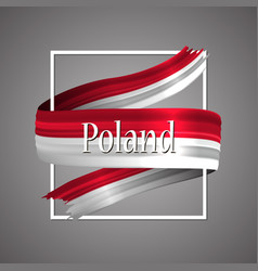 poland flagofficial national polands 3d symbol vector image