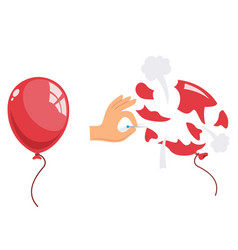 Popped balloon vector