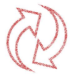 Refresh arrows fabric textured icon vector