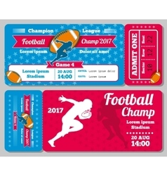 Rugby football sports ticket card retro vector