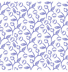 Seamless floral pattern with swirls and curls vector