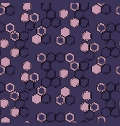 seamless repeating honeycomb background vector image