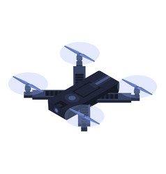 small quadrocopter icon isometric style vector image