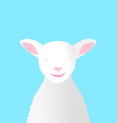 smiling lamb vector image