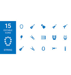 String icons vector