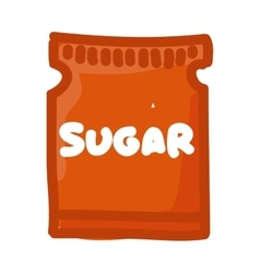 Sugar bag isolated icon vector