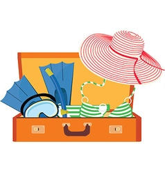 Summer luggage vector image