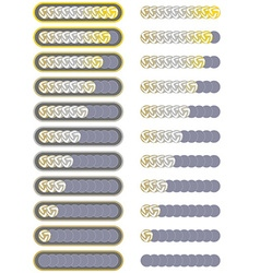 Ten level soccer player rating system vector