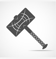 Thor hammer icon vector