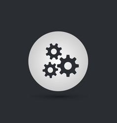 three gears icon vector image