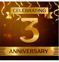 three years anniversary celebration design vector image