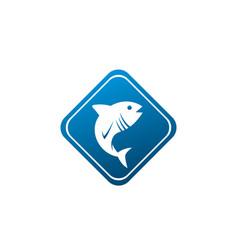Tona blue fish in symbol design tuna marine life vector