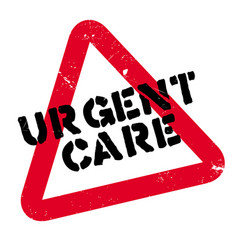 urgent care rubber stamp vector image