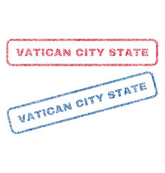 Vatican city state textile stamps vector