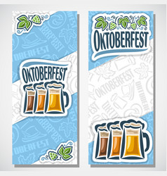 Vertical banners for oktoberfest vector