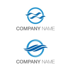 Water logos vector