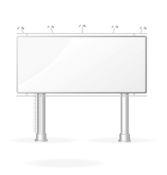 white billboard screen template vector image