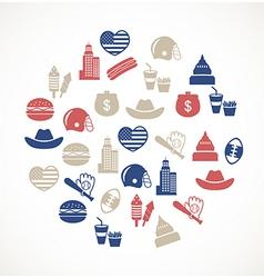 American symbols vector image vector image
