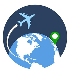 Business travel icon flat style isolated in vector