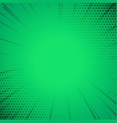 green comic book style template background vector image vector image