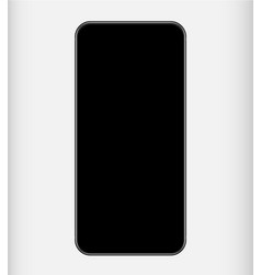 smartphone black with glossy screen new realistic vector image
