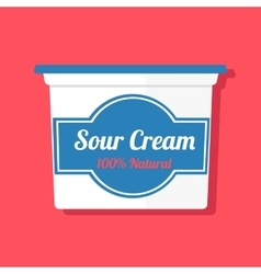 a jar with sour cream vector image