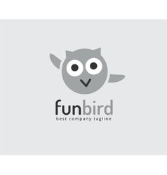 Abstract owl cute character logo icon concept vector image