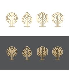 Abstract tree logos vector image vector image
