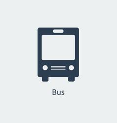 bus icon silhouette icon vector image vector image