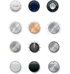 Knobs set vector