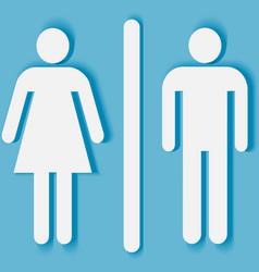 Man and woman bathroom symbol vector image