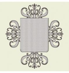 ornate shield vector image vector image