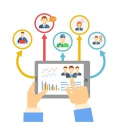Remote business management concept vector image