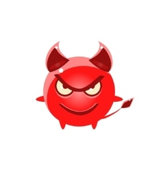 Devil Evil Round Character Emoji vector image vector image