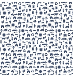 Ecological Seamless pattern vector image