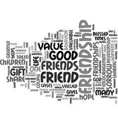 friendship do you value text background word vector image