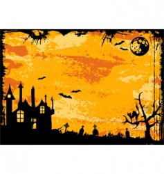 Halloween frame vector image vector image