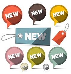New Sale Labels Set vector image vector image