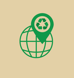 recycle symbol green arrows logo web icon vector image vector image
