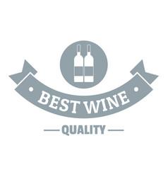 wine bar logo simple gray style vector image