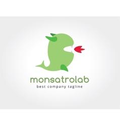 Abstract dragon monster logo icon concept Logotype vector image vector image