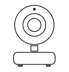 web camera black color icon vector image