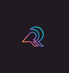 abstract bird linear logo icon design modern vector image
