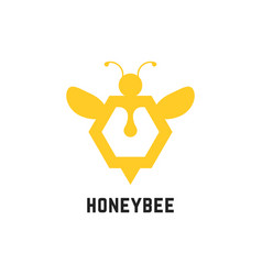 abstract honey bee sign vector image
