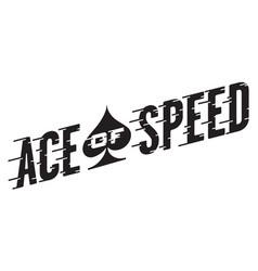 Ace speed retro design vector