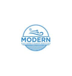 Air conditioner service logo design vector