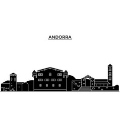 Andorra architecture city skyline travel vector