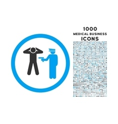 Arrest Rounded Icon with 1000 Bonus Icons vector image