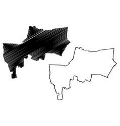 Bangkok province map vector