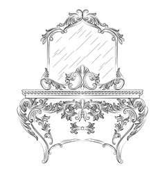 Baroque Dressing Table vector